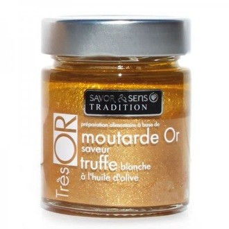 Moutarde or saveur truffe blanche