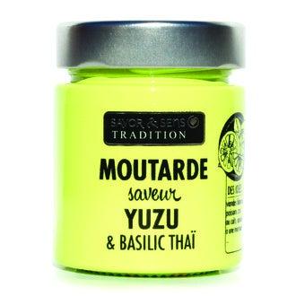 SAVOR & SENS - Moutarde saveur yuzu et basilic thaï 130g