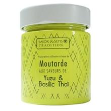 Achat en ligne Moutarde saveur yuzu et basilic thaï 130g