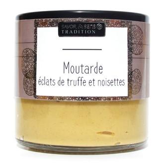 Moutarde Deluxe - Eclats de truffe & noisettes grillées 190g