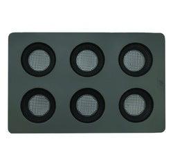 acquista online Kit teglia in silicone per 6 panini tondi 37 x 23,5 cm