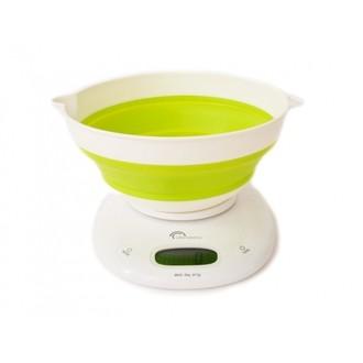 Balance avec bol rétractable en silicone vert 5kg