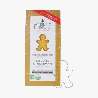 Préparation bio biscuits gingerman avec emporte pièce