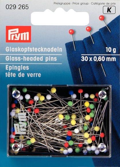 Achat en ligne Epingles à tête de verre multicolores en boîte 10g