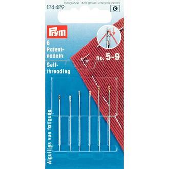 ECLAIR PRYM - Set de 6 aiguilles spéciales vue fatiguée argentées et dorées N°5-9