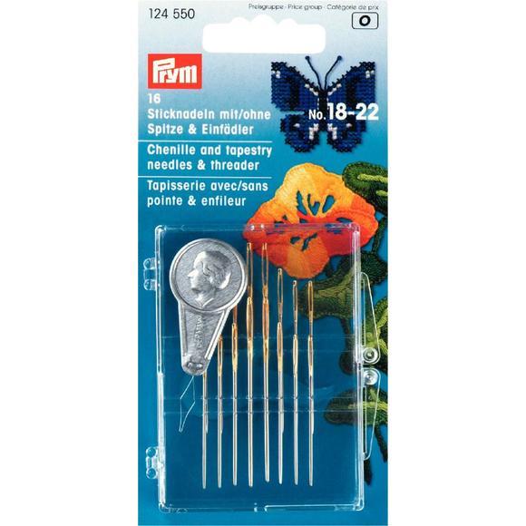 Achat en ligne Set de 16 aiguilles avec enfileur en plastique N°18-22