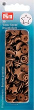 Achat en ligne 30 Boutons pression Etoiles dorées