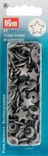 Achat en ligne 30 Boutons pression Etoiles gris argentées
