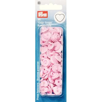ECLAIR PRYM - 30 Boutons pression - Cœurs roses