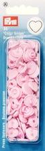Achat en ligne 30 Boutons pression Cœurs roses