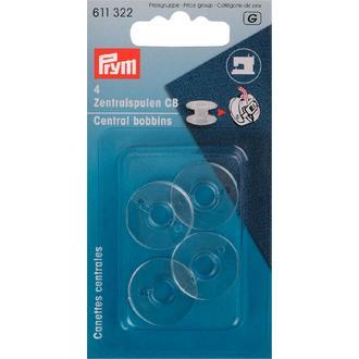 Set 4 canettes pour machine à coudre plastique 20,5x11,7mm