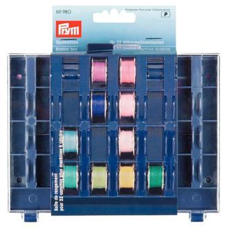 ECLAIR PRYM - Boîte de rangement pour 32 canettes en plastique transparent et bleu 13x16x3cm