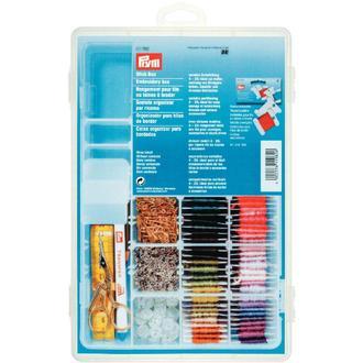 ECLAIR PRYM - Boîte de rangement pour fils à broder en plastique transparent 27,7x19x4,5cm
