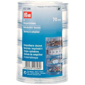 ECLAIR PRYM - Boîte à épiler ronde en plastique transparent diamètre 7cm