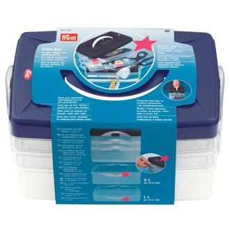 ECLAIR PRYM - Boîte de rangement empilable Click Box en plastique 24x16,5x14cm