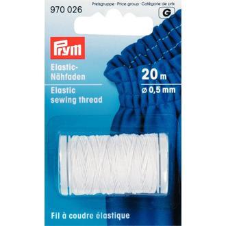 ECLAIR PRYM - Bobine de fil à coudre élastique blanc 0,5mm