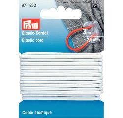 compra en línea Cordón elástico blanco (2,5 mm)