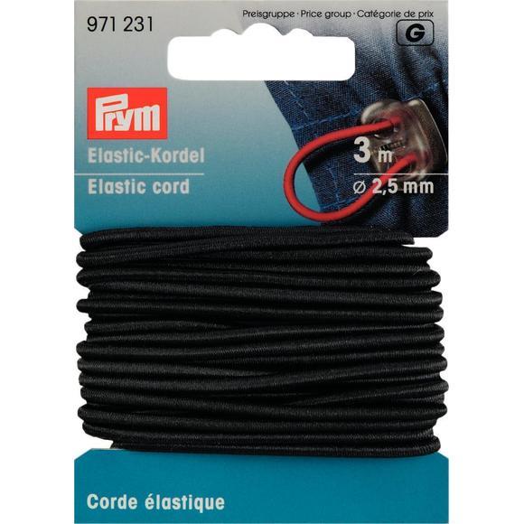 Achat en ligne Corde élastique noire 2,5mm
