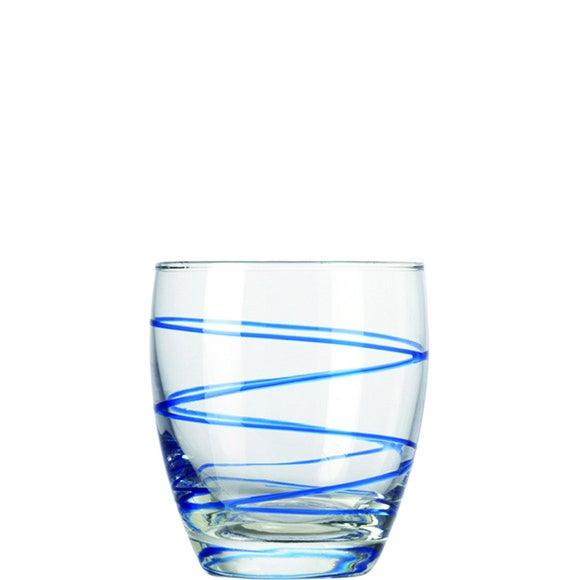 Verre bleu Swirl 33cl