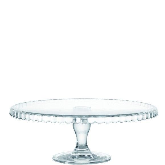 Plat à tarte en verre sur pied 32cm