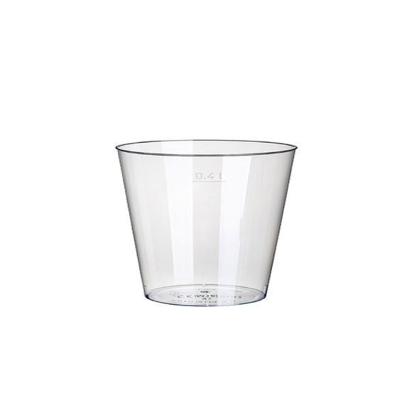 Paquet 50 gobelets en plastique transparent 400ml