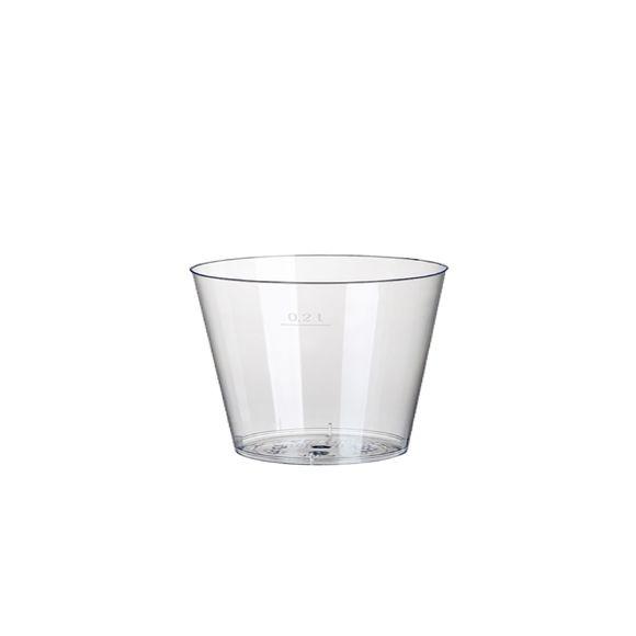 Paquet 50 gobelets en plastiques transparent 200ml