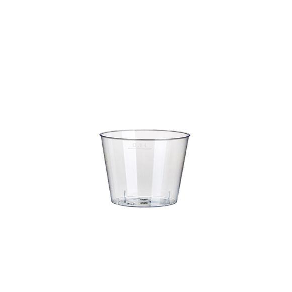 Paquet 40 gobelets en plastiques transparent 100ml