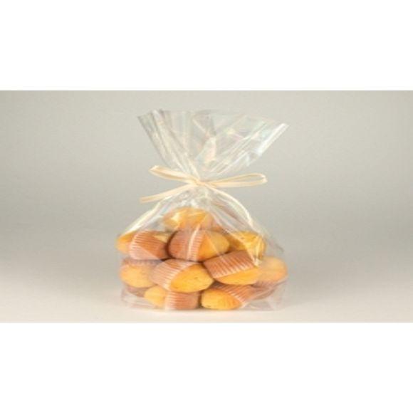 Set 10 sacchetti di plastica trasparente dolciumi 27x18,5x7cm
