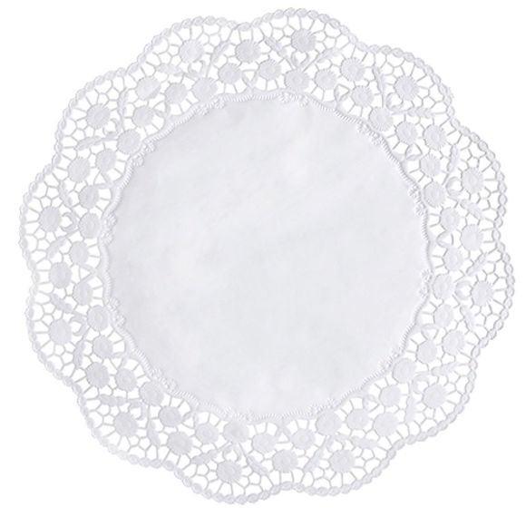 Achat en ligne Lot de 12 napperons 36cm rond en dentelles blanc