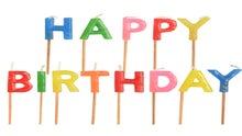 Achat en ligne Bougie lettres happy birthday à piquer 8cm
