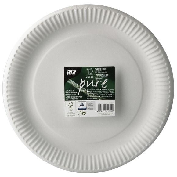 Achat en ligne 12 assiettes blanches rondes en carton 26cm