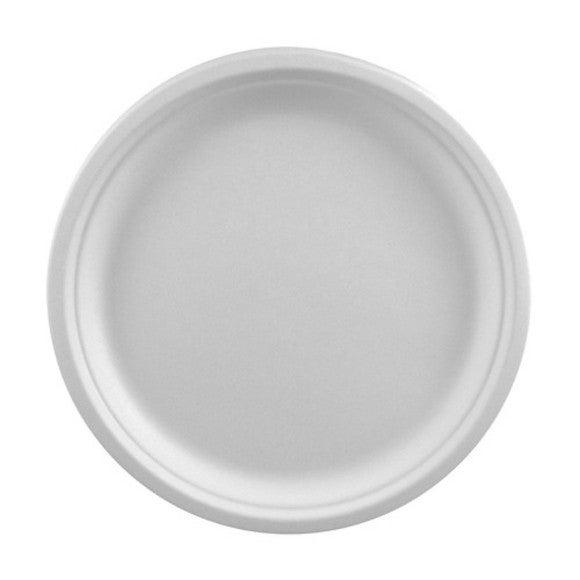 Achat en ligne Paquet 50 assiettes en canne à sucre blanc 26cm