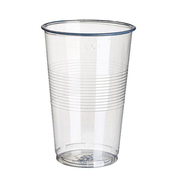 Paquet 25 gobelets en plastique transparent 50cl