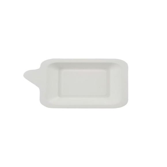Achat en ligne 50 assiettes carrées en fibre de canne blanche