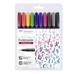Achat en ligne 10 feutres calligraphie Fudenosuke, pointes flexibles, Tombow