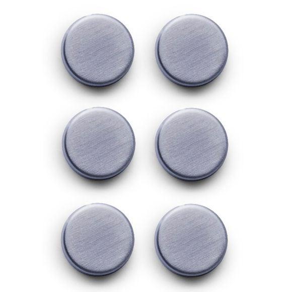 Set di 6 magneti ovali in acciaio inossidabile satinato 2,7 cm