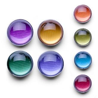 Set de 4 aimants ronds quatre couleurs