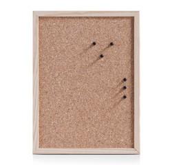compra en línea Tablero de corcho para pared con marco de madera (40 x 30 cm)