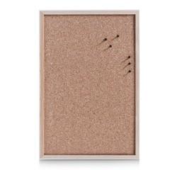 compra en línea Tablero de corcho para pared con marco de madera (60 x 40 cm)