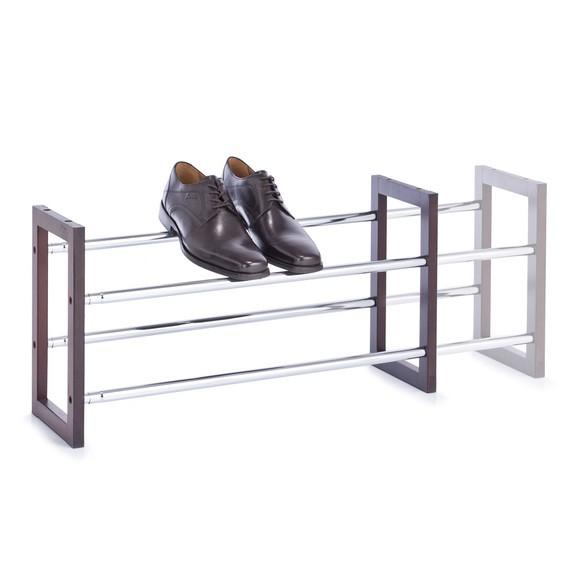 Etagère pour chaussures avec un cadre en bois Wengé