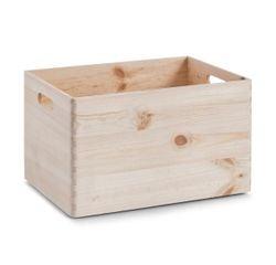 compra en línea Caja de almacenamiento de madera con asa (30 x 40 x 24 cm)