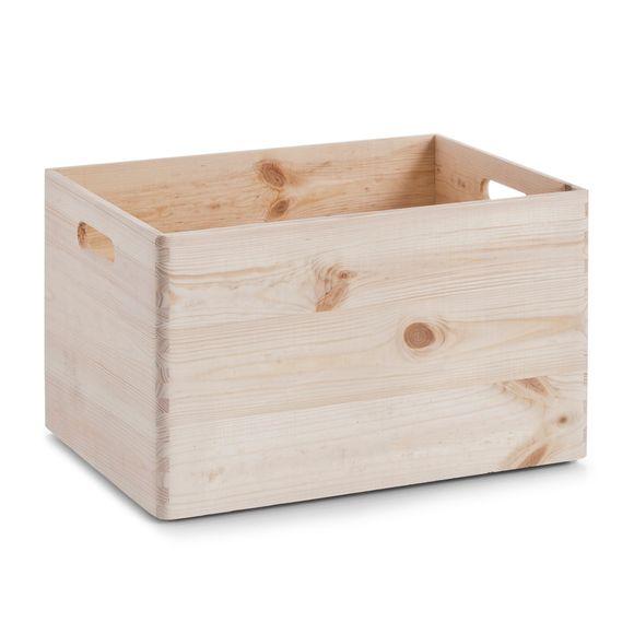 Caisse de rangement en bois avec poignée 30x40x24