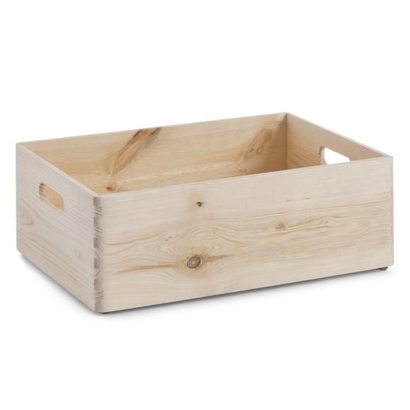 Tiroir bois brut poignée 30x40