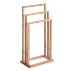 compra en línea Toallero de pie con 3 barras de bambú (42 x 24 x81,5 cm)