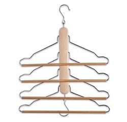 compra en línea 4 perchas en 1 multifunción de madera Zeller
