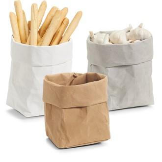 Assortiment de 3 corbeilles à pain en papier 12x12x25cm