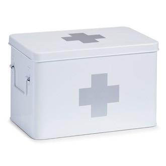 Boîte à pharmacie en métal blanc 32x19,5x20cm