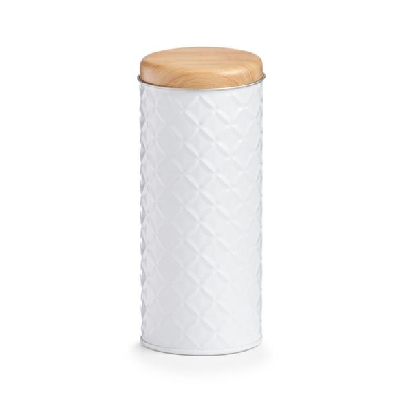 Achat en ligne Boite thé métal Scandi métal cylindrique blanche