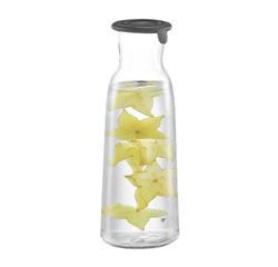 compra en línea Botella de vidrio con tapón de silicona de boquilla ancha 1 L