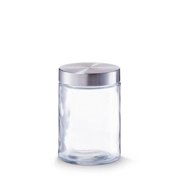 Barattolo tondo in vetro e inox 1,1L